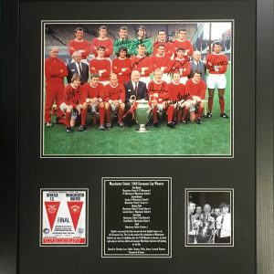Manchester United 1968 Team Signed by 10 Photo – Framed