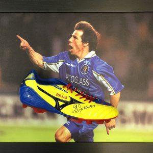 Gianfranco Zola Signed Boot – Framed