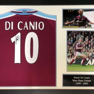Paolo Di Canio 2000 Signed West Ham Shirt – Framed
