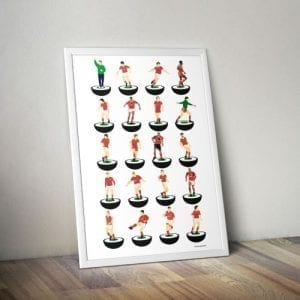 Nottingham Forest Subbuteo Print – Unframed