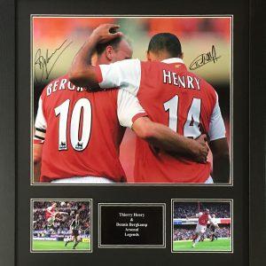 Henry & Bergkamp Signed Photo – Framed
