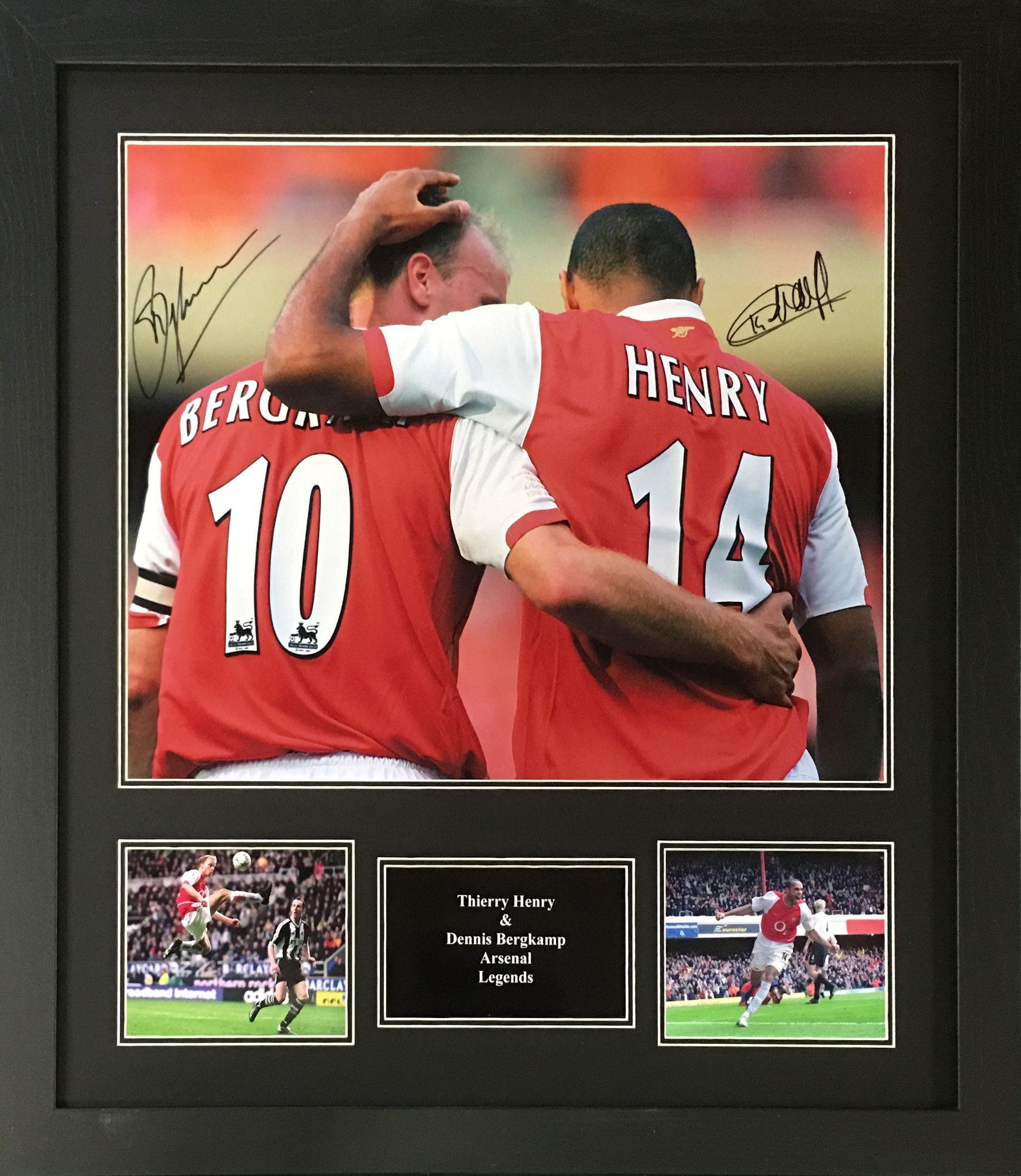 cfe35931b Henry & Bergkamp Signed Photo - Framed - National Football Museum