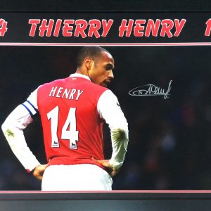 Thierry Henry Signed Photo – Framed