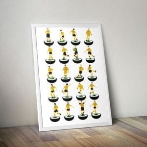 Wolves Subbuteo Print – Unframed