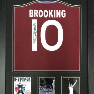 Trevor Brooking Signed West Ham Shirt – Framed