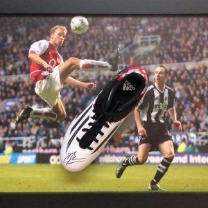 Dennis Bergkamp Signed Boot – Framed