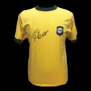 Pele Signed Brazil Shirt