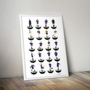 Oldham Athletic Subbuteo Print – Unframed
