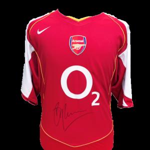 Dennis Bergkamp Signed Arsenal 2004/05 Shirt