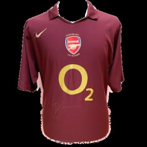 Dennis Bergkamp Signed Arsenal 2005/06 Shirt