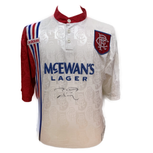 Brian Laudrup Signed Rangers 1995/96 Shirt