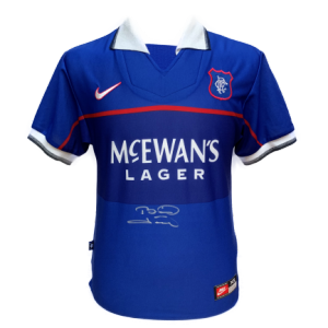 Brian Laudrup Signed Rangers 1997/99 Shirt