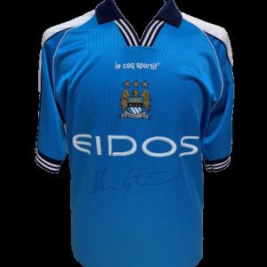 Shaun Goater Signed Manchester City 2001/02 Shirt