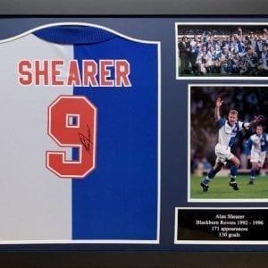 Alan Shearer Signed Blackburn Rovers 1994/95 Shirt Framed