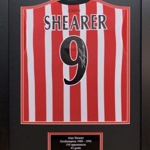 Alan Shearer Signed Southampton Shirt Framed