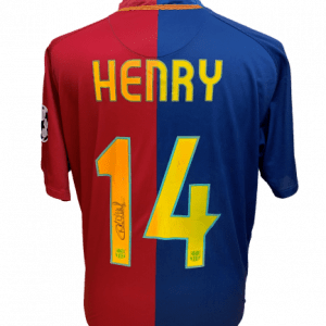 Thierry Henry Signed Barcelona 2008/09 Shirt