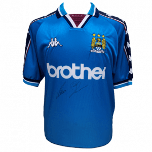 Uwe Rosler Signed Manchester City 1997/99 Shirt