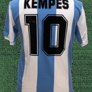 Mario Kempes Signed 1978 Argentina Number 10 Shirt