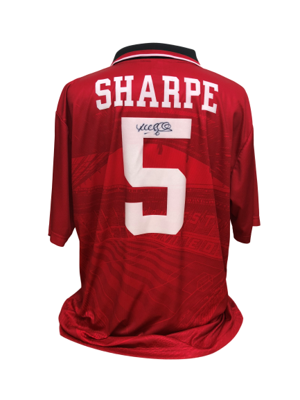 low priced a93f0 55e89 Lee Sharpe Signed Manchester United Shirt