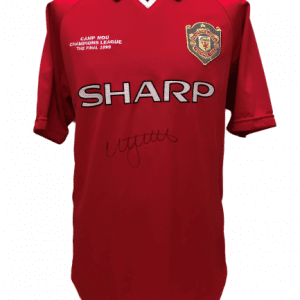 Nicky Butt Signed 1999 Champions League Final Replica Shirt