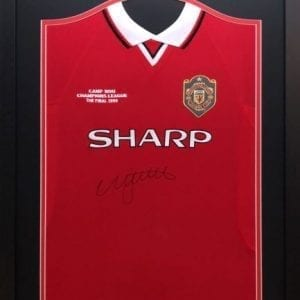 Nicky Butt Signed 1999 Champions League Final Replica Shirt – Framed