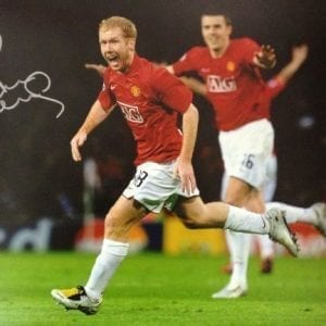 Paul Scholes Signed Manchester United Photo