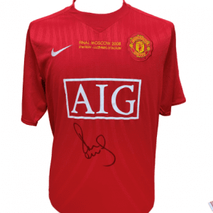 Paul Scholes Signed Manchester United 2008 CL Final Shirt