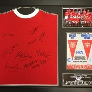 Manchester United 1968 Home Shirt Signed by 10