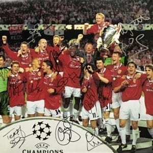 Manchester United Signed by 12 1999 Champions League Final Photo