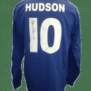 Alan Hudson Signed Chelsea Shirt