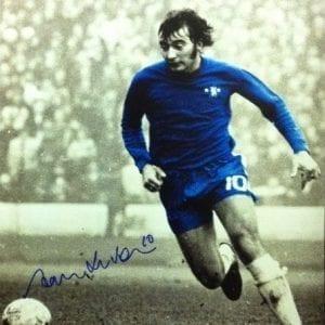 Alan Hudson Signed Chelsea Photo