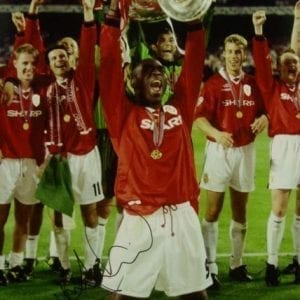 Andy Cole Signed 1999 Champions League Final Photo