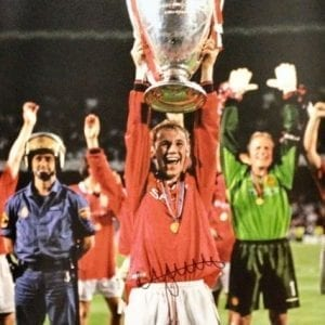 Nicky Butt Signed 1999 Champions League Final Photo