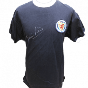 Denis Law Signed Scotland Shirt