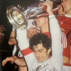 Dennis Mortimer Signed European Cup Final Photo