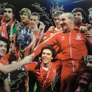 1979 Nottingham Forest European Cup Final Signed Photo