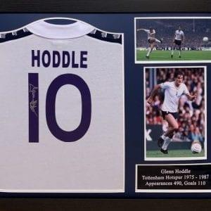 Glenn Hoddle Signed Tottenham 1978 Framed Shirt