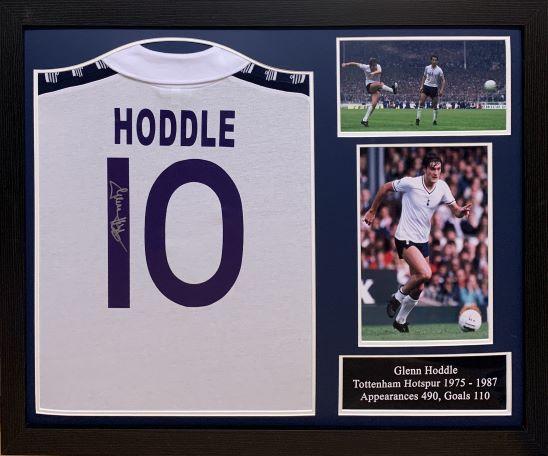 newest 35da1 c65f3 Glenn Hoddle Signed Tottenham 1978 Framed Shirt