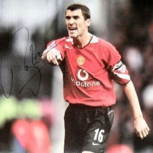 Roy Keane Signed Manchester United Photo