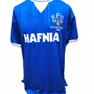 Kevin Ratcliffe Signed Everton 1984 FA Cup Final Replica Shirt