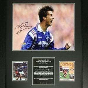 Brian Laudrup Signed Rangers Photo