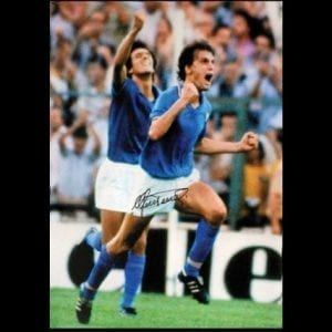 Marco Tardelli Signed 1982 World Cup Final Photo
