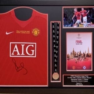 Paul Scholes Signed Manchester United 2008 CL Final Framed Shirt