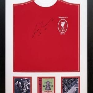 Ron Yeats Signed Liverpool 1965 FA Cup Final Framed Shirt