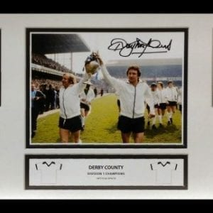Roy McFarland Signed Derby County League Champions Storyboard