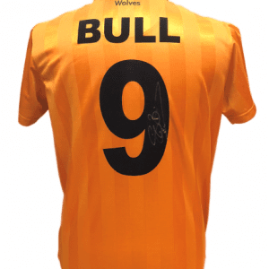 Steve Bull Signed Wolves Shirt