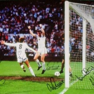 Aston Villa Signed 1982 European Cup Final Photo Signed by 7