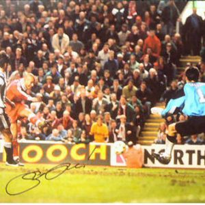 Stan Collymore Signed Liverpool Photo