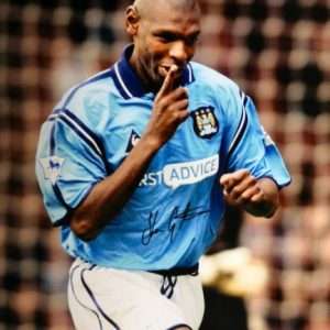 "Shaun Goater Signed 16×12 Photo ""The Last Maine Road Derby"""