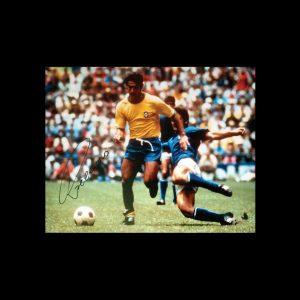 Rivelino Signed 1970 World Cup Final Photo